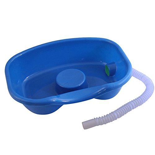 Byfjkkl Waschbecken-Plastikpatientenpflege-medizinisches Shampoo-Becken für bettlägeriges und im Bett gelähmt,Blau,45 * 35 * 12cm