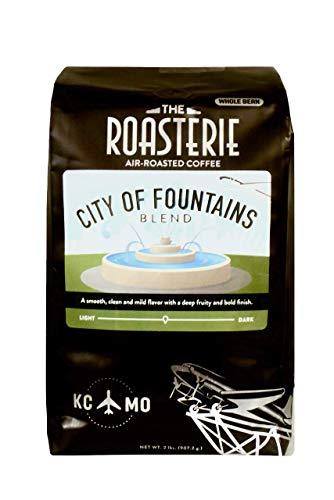 The Roasterie Air-Roasted Kansas City Coffee - City of Fountains Blend, Whole Bean (2 lbs)