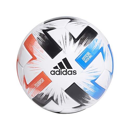 adidas Unisex Tsubasa Pro Fußball, White/Solar Red/Glow Blue/Black, 5