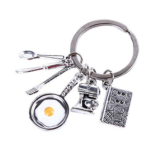 EJY Women Ustensiles De Cuisine Omelette Pendentif Porte-clés Sac À Main Accessoires