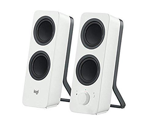 Logitech Z207 Kabellose PC-Lautsprecher, Bluetooth, Stereo Sound, 10 Watt Spitzenleistung, 3,5 mm Eingang, Kopfhörerbuchse, Easy-Switch Feature, EU Stecker, PC/TV/Tablet/Handy - weiß