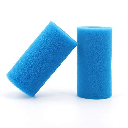Filtro de Espuma para Piscina (2 Unidades, Reutilizable, Lavable, Intex, Filtro de Espuma para Intex Tipo A)