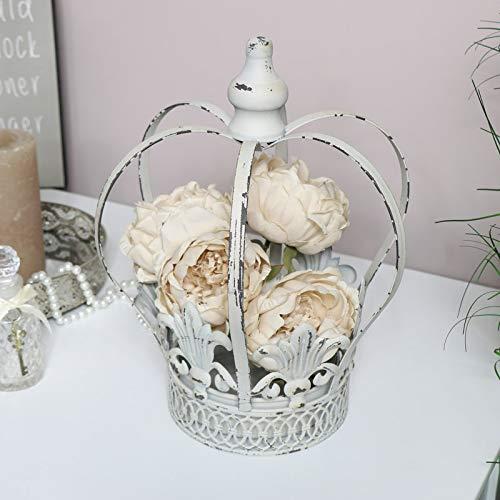 Melody Maison - Portavaso a forma di corona bianca