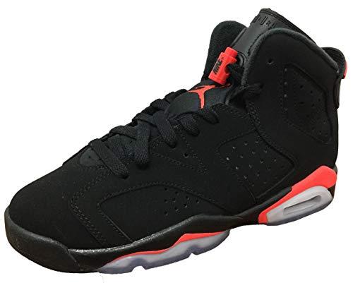 Nike Youth 2019 Air Jordan 6 Retro 384665 060 Black/Infrared (6y)