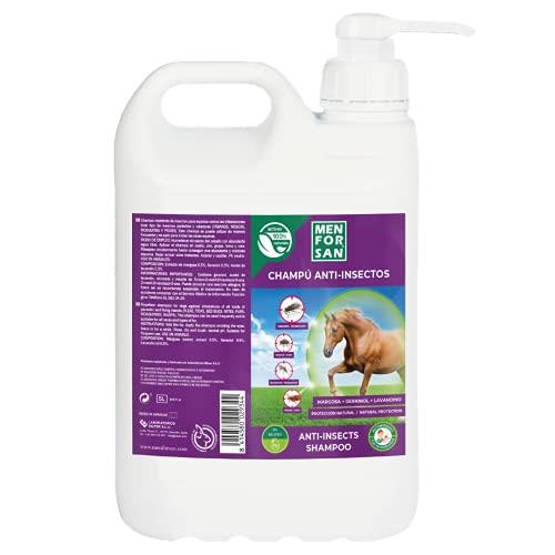 MENFORSAN Champú Anti-Insectos con Margosa, Geraniol y Lavandino para Caballos 5L   Protégelo de Cualquier Insecto 🔥