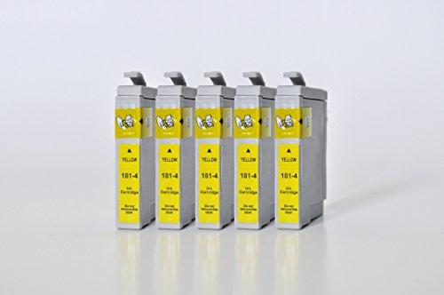 T1814 Printing Saver 5 GELB Tintenpatronen kompatibel für EPSON XP-102 XP-202 XP-205 XP-212 XP-215 XP-225 XP-30 XP-302 XP-305 XP-312 XP-315 XP-322 XP-325 XP-402 XP-405 XP-412 XP-415 XP-422 XP-425