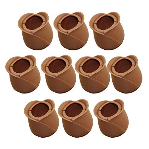10 Stück Silikon Tischbeinkappe Möbel Stuhlbein Kappen Füße Pads - Runder unterer runder Mund 52-58mm