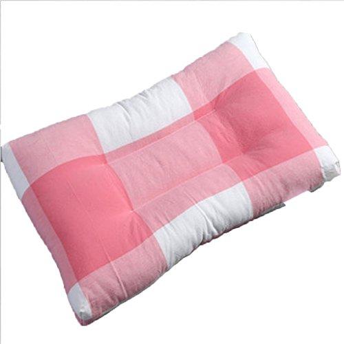RenShiMinShop Almohada Cervical de Seda sin Plumas de deformación, Almohadas Lavables, Almohada de Felpa para niños (Color : Pink)