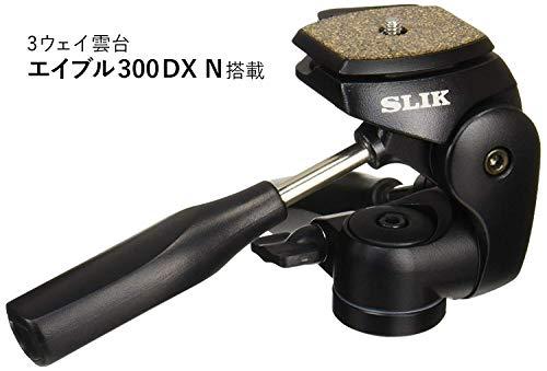 SLIKカーボン三脚ライトカーボンE844段ナットロック式28mmパイプ径3ウェイ雲台クイックシュー式108321