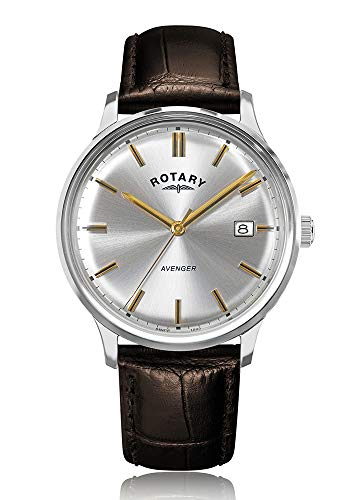 Rotary Avenger GS05400/06 - Reloj de Pulsera para Hombre, Correa de Piel, Color marrón