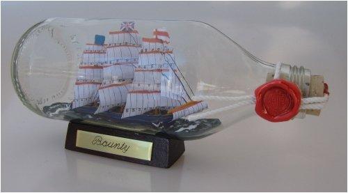 Bounty runde Flasche 0,3 Liter Buddelschiff Flaschenschiff