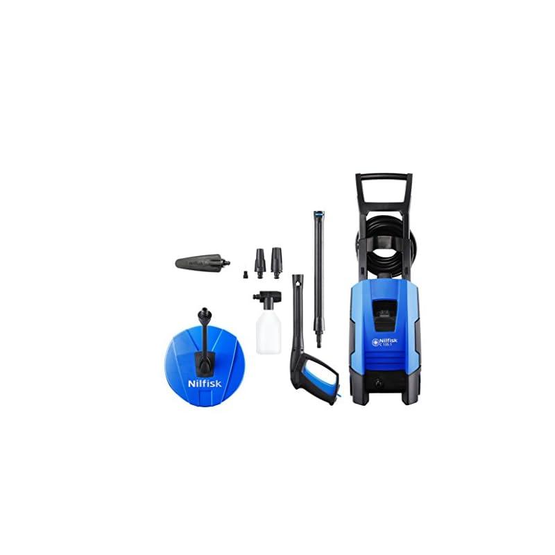 Nilfisk 128471163 C 135.1-8 HOME Hochdruckreinigers 1800 W, 230 volts, blau + Nassstrahl-Set