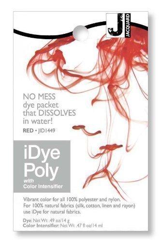 Jacquard iDye Poly - Stoff Farbstoff für Polyester und Nylon (Verschiedenen Farben Erhältlich) - Rot