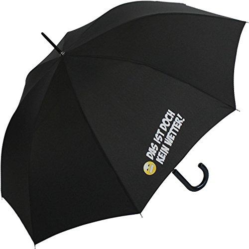 Stockschirm für Damen und Herren mit Automatik - Bedruckt Das ist doch kein Wetter! - schwarz