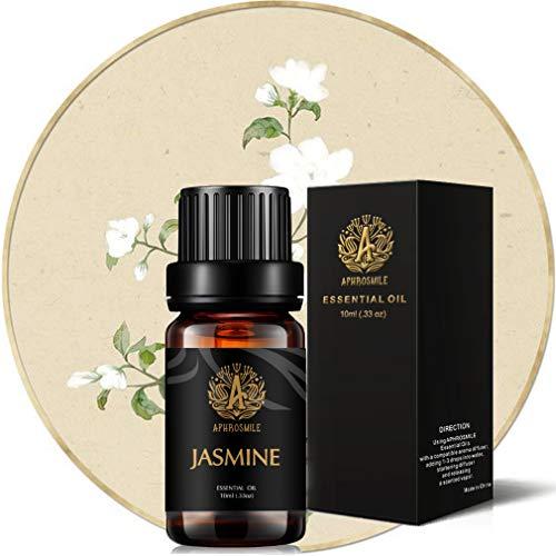 Aromaterapia olio essenziale del gelsomino, oli al 100% purissimi al profumo di gelsomino per diffusore, umidificatore, massaggio, aromaterapia, profumo di olio essenziale di gelsomino 0.33 oz - 10ml