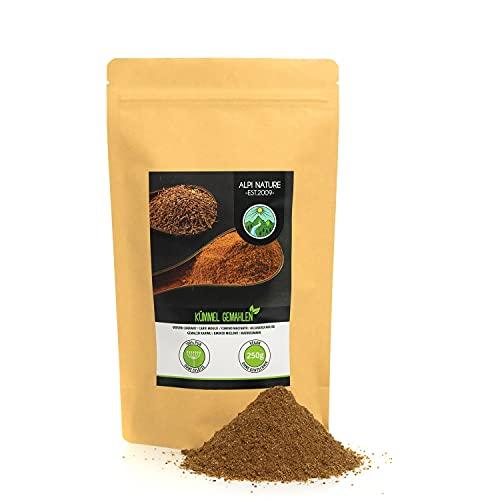 Semillas de alcaravea molidas (250g), semillas de alcaravea molidas, polvo de alcaravea 100% natural sin aditivos