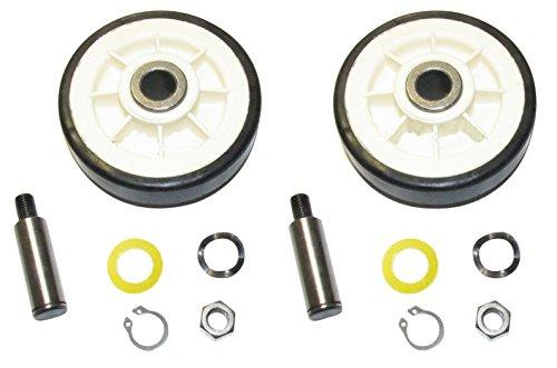 Kit de rodillo de tambor de secadora (juego de 2) – Parte # 12001541 / 303373K Rodillos de cinturón