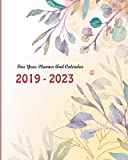 2019-2023 Five Year Planner And Calendar: Watercolor Floral Cover, Monthly Schedule Organizer, 60 Months Calendar Planner Agenda with Holidays
