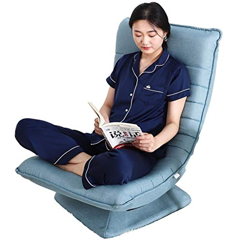 YUESFZ Poltrone reclinabili 360 Gradi di Rotazione Libera di Regolazione Easy Chair Singolo Can Gambe Incrociate Seduto Luna Sedia Semplice Camera da Letto Moderna Balcone Piccolo Reclinabile
