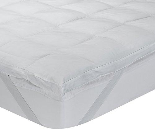 Classic Blanc - Surmatelas en fibre hypoallergénique Aloe Vera, confort médium, épaisseur 6,5cm. 200x200 cm-Lit 200