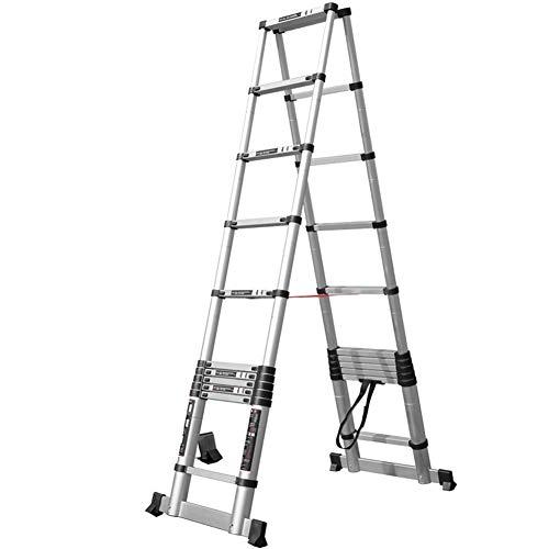 Escalera extensible Escalera telescópica Mighty Multi Telescoping Ladder, escalera de extensión plegable...
