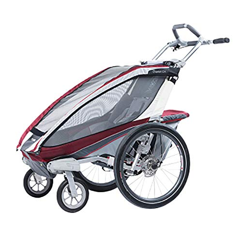 Zxcvlina Ingle Seat Foldable Tow Behind Bike Trailers, Featuring 2-in-1 Canopy and 16-Inch Wheels for Kids and Children (Color : Red, Size : Free Size)