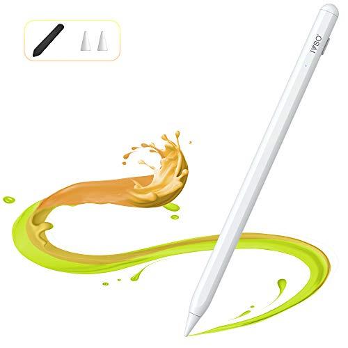 IVSO Penna Touch per iPad 2018-2020, Stylus Penna di 3a Gen con 3D dell inclinazione, iPad Pen con Palm Rejection e Magnetismo, Ultra Fine da 1mm Attiva Stilo per iPad PRO iPad iPad Air iPad Mini