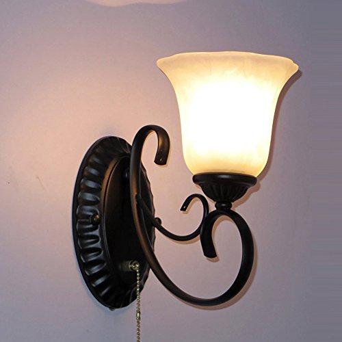 American Country de salle de bain Lampes de mur classique Chambre à coucher de chevet appliques murales Salon Allée escaliers luminaires
