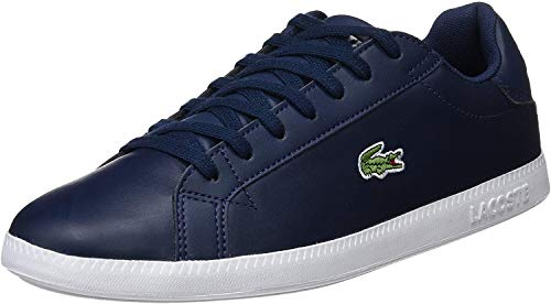 Lacoste Mens Graduate BL 1 SMA Sneaker, Blau (Navy/White), 43 EU