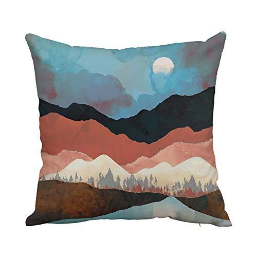 ARMAC Sunrise - Funda de cojín impermeable para sofá, 45 x 45 cm, funda de almohada para el hogar, dormitorio, sala de estar, coche, sofá