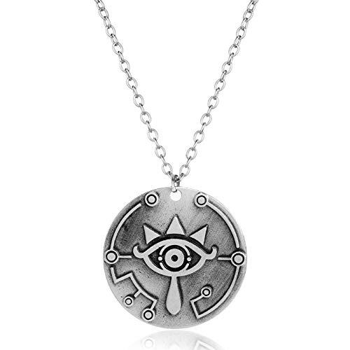 WYFLL Joyería periférica europea y americana, accesorios de personalidad, The Legend of Zelda, Breath of The Wild Shield colgante collar para hombre