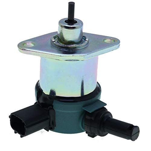 Solarhome Fuel Stop Solenoid 17208-60015 17208-60016 17208-60010 for Kubota B21 B26 B2320 B2410 B2620 B2630 B2650 B2710 B2910 B3030 B7510 B7610 B7800 B7510DN B7510HSD B7610HSD B7800 HSD D905
