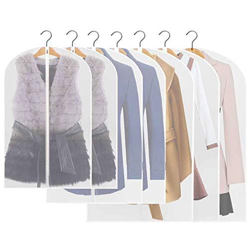 HEPAZ Copriabiti Antipolvere, 10pcs Copriabiti Trasparenti Lavabile Abbigliamento Copre per Abiti, Giacche, Gonne, Camicie e Altro
