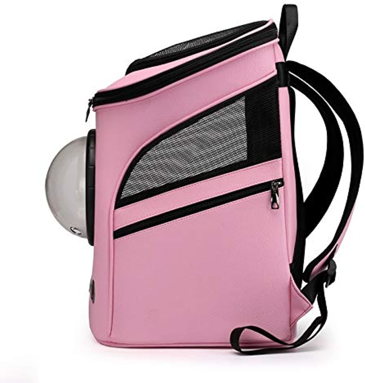 Petzhu Pet Backpack Solid color Dog Air Box Cat Backpack Outing Carrying Case