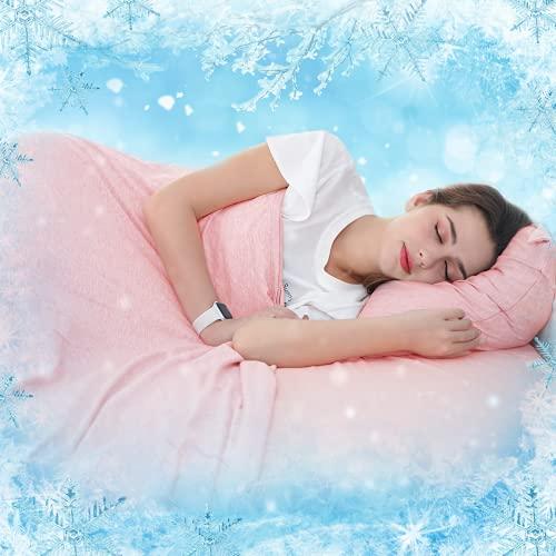 SOLEDI Manta Verano 200x220 cm para Personas con Alta Temperatura Corporal, Manta Cama Adopta Fibra De Refrigeración MAX>0,4 ,Refrescante Manta Sofa para Oficina y Viaje, Antialérgico y Antiestático