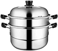 MSWL Steamer, Stainless Steel Thickened Double Bottom Household Steamer Three-layer Steamer, Large-capacity Steamed Steame...