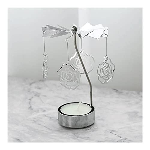 AJMINI 2 PZ. Portacandele Rotante, candeliere Rotante, portacandele di filatura del Metallo Titolare della Candela, Accessori di Candela, per la Festa di Nozze Festival di Natale Home Decor