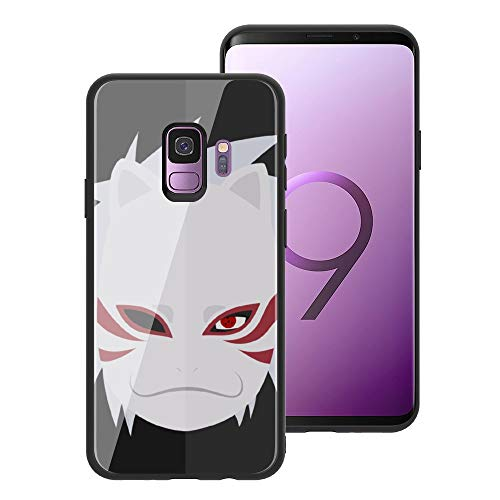 ACG Naruto 034 Design, Tempered Glass Case for Galaxy S10, Soft Silicone Bumper Anti-Scratch Ultra-Thin, Galaxy S10 Phone Cover for Girls, Teens