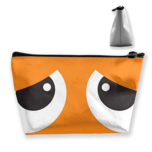 Trousse de maquillage portable yeux tristes multifonction impression trapézoïdale sac de rangement pour femme