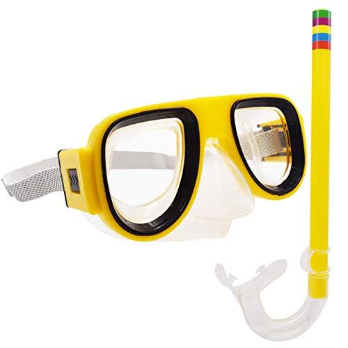 Maschera da Snorkeling Junior - Tomicy Maschera Subacquea, Occhiali da Nuoto, Maschera da Sub per Bambini, Bambini 7   13 Anni Antiappannamento   Antigraffio   Anti UV
