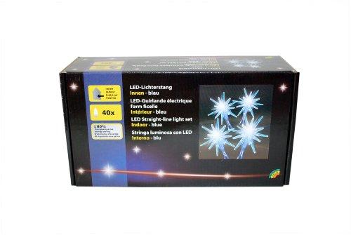Brauns Heitmann LED-Stern-Lichterkette, Gesamtlänge: 695 cm, 40-teilig, mit Transformator, blau 87650