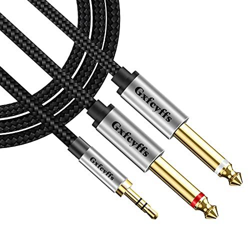Gxfcyffs Cable Audio Jack 3.5mm a Doble Mono 6.35mm 1M, Cable Jack...