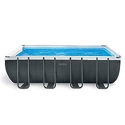 top 10 inground pool kit Intex Rectangular Pool 18ft x 9ft x 52inch Ultra XTR, Sand Filter Pump, Ladder, Bottom …
