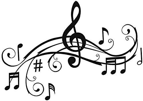 Exquisitas pegatinas 28 x 20 cm notas musicales parachoques pegatina personalizada vinilo coche accesorios decorativos arte pegatinas de pared