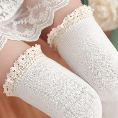 2 Pares de Calcetines hasta la Rodilla Sexis para Mujer a Rayas Medias Altas hasta el Muslo Calcetines Largos para niñas Otoño Invierno Medias largas cálidas de algodón-a14-One Size