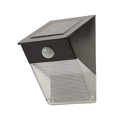 asigo Solar Jardín Lámpara con interruptor crepuscular y sensor de movimiento, con LED super brillantes, luminosidad en dos etapas, Inalámbrico)