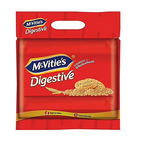 McVitie's Digestive High Fibre biscuits with Goodness of Wholewheat, 1Kg Super Saver Family Pack