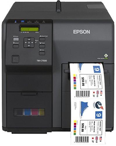 Epson ColorWorks C7500 - Etikettendrucker (Tintenstrahl, 600 x 1200 DPI, 300 mm/sek, 10,8 cm, ZPL II, Schwarz)