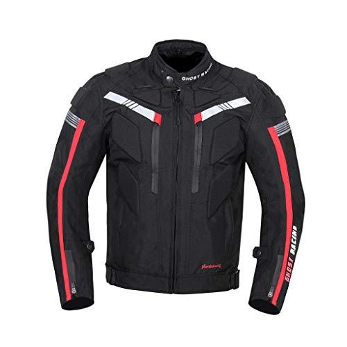 PETSOLA Chaqueta de Moto Jersey Impermeable Traje de Carreras a Prueba de Viento - Negro, XXL