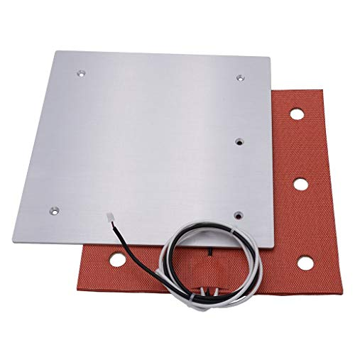 [Gulfcoast Robotics] 235x235mm Aluminum Build Plate and 24V 200W Silicone Heater 3-Point Heated Bed Upgrade for Creality Ender 3